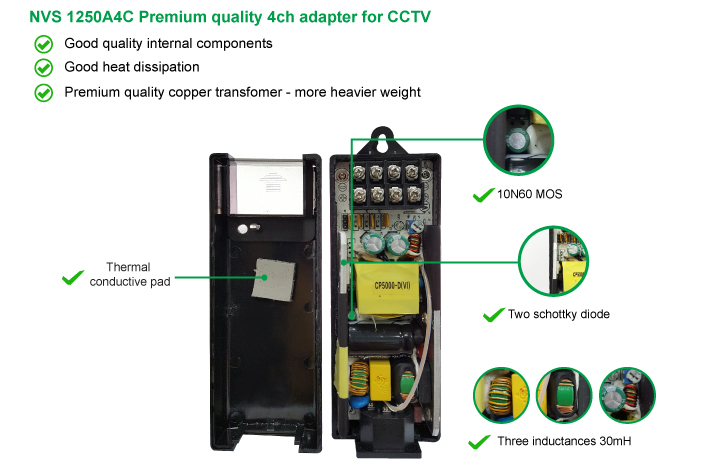 MAG premium quality 4ch power adapter