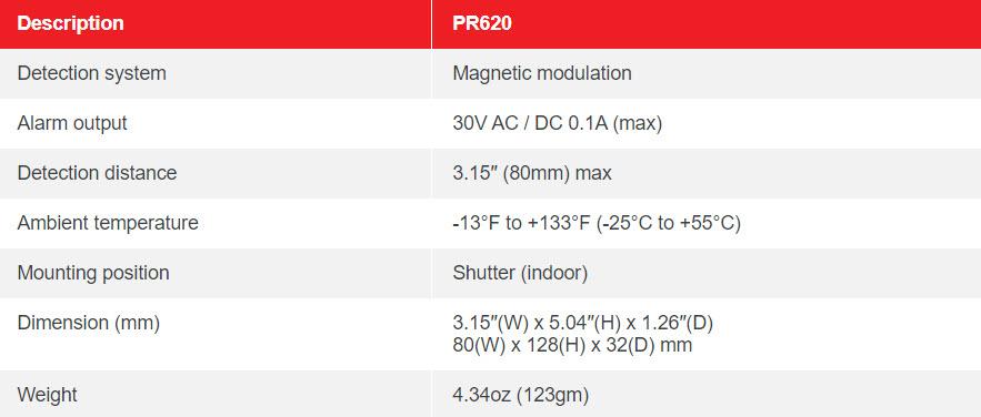 MC620 – MAGTEC UPPER ROLLER SHUTTER MAGNETIC CONTACT