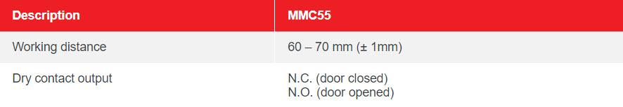 MOC55 – FLOOR ROLLER SHUTTER DOOR SENSOR