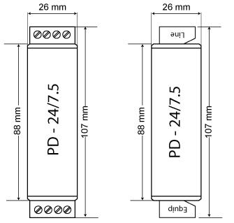 PD 24.75 dimension
