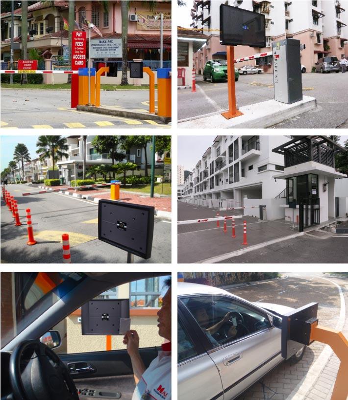 RFID mid range reader security guard house