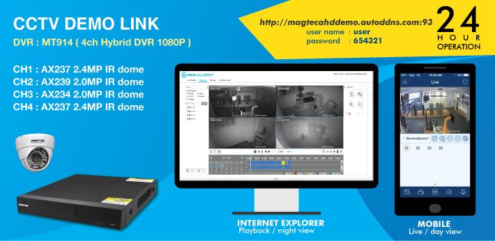 CCTV Demolink 24hour operation