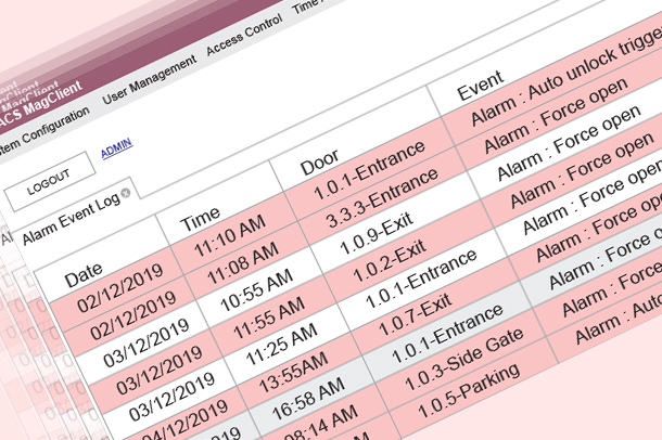 Fast search event log for evidence