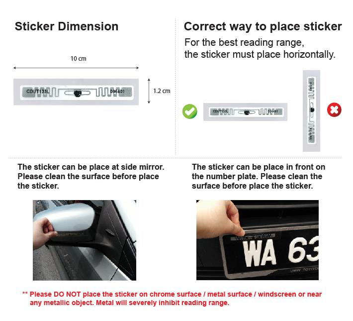 ar300u Xclone correct way to place UHF sticker 01 1