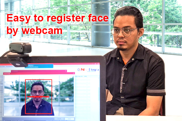 easy to register face by webcam