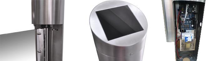 turbular stainless steel swing barrier