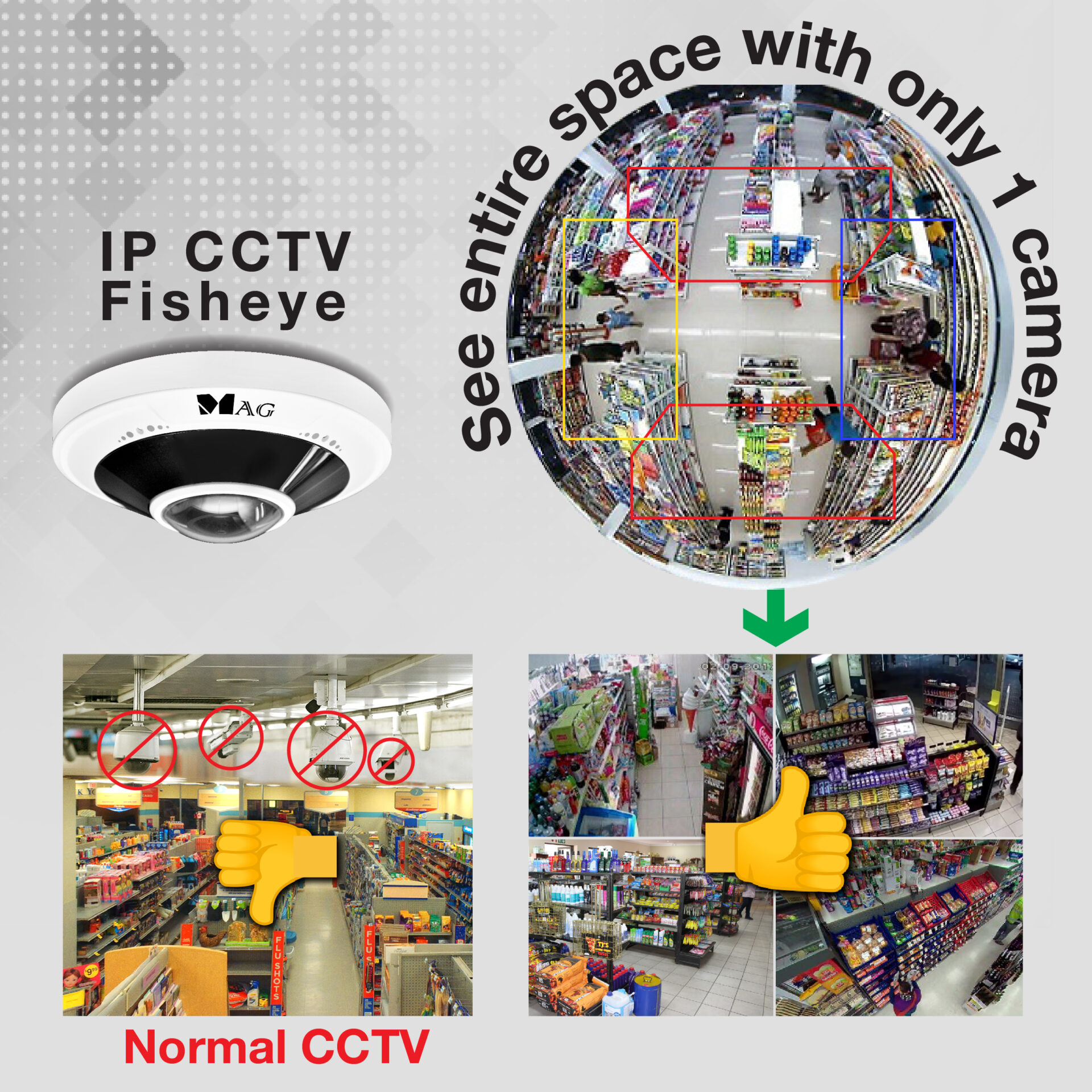 IP CCTV fisheye