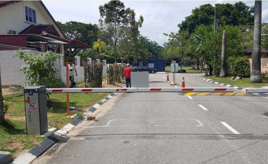 Malaysia barrier gate installation