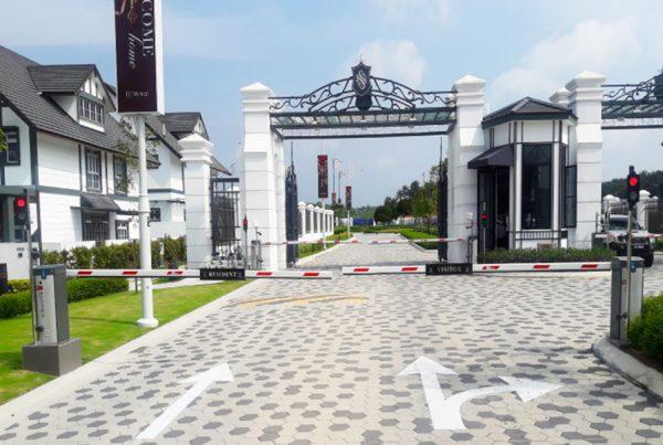 barrier gate installation
